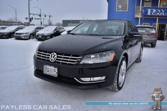 2014_Volkswagen_Passat_TDI SEL Premium / Automatic / Turbo Diesel / Auto Start / Power & Heated Leather Seats / Sunroof / Navigation / Bluetooth / Back Up Camera / Keyless Entry & Start / Aluminum Wheels / 40 MPG / 1-Owner_ Anchorage AK