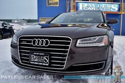 2015_Audi_A8_3.0T / Quattro AWD / Automatic / Sport Pkg / Driver Assist Pkg / Power & Heated Leather Seats / Sunroof / Navigation / Bose Speakers / Blind Spot Assist / Heads-Up Display / Bluetooth / Back-Up Camera / Low Miles / 1-Owner_ Anchorage AK