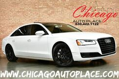 2015_Audi_A8 L_3.0T - 3.0L TFSI SUPERCHARGED V6 ENGINE QUATTRO ALL WHEEL DRIVE TOP VIEW CAMERAS BLACK LEATHER HEATED/COOLED SEATS PANO ROOF KEYLESS GO_ Bensenville IL
