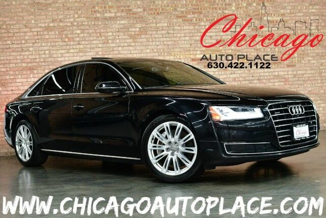 2015 Audi A8 L 3 0t 3 0l Tfsi V6 Engine Quattro All Wheel Drive Black Leather Navigation Top View Cameras Pano Roof Suede Headliner Massage Seats
