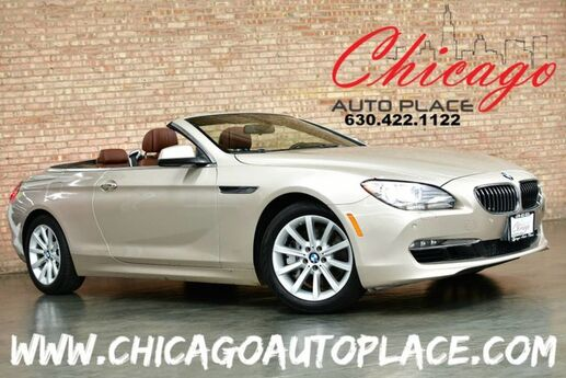 2015 BMW 6 Series 640i xDrive CONVERTIBLE - 3.0L 6-CYL SPORT PACKAGE PREMIUM PACKAGE CINNAMON BROWN LEATHER NAVIGATION HEATED SEATS HEATED STEERING WHEEL Bensenville IL