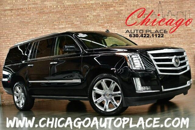 2015 Cadillac Escalade ESV Premium - 1 OWNER 6.2L V8 ENGINE 4WD NAVIGATION BACKUP CAMERA 3RD ROW SEATING DUAL REAR TV'S KEYLESS GO HEADS-UP DISPLAY KONA BROWN LEATHER HEATED/COOLED SEATS Bensenville IL