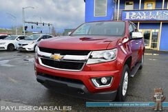 2015_Chevrolet_Colorado_LT / 4X4 / Crew Cab / Power & Heated Leather Seats / Collision Avoidance & Lane Depart Alert / Navigation / Bose Speakers / Bluetooth / Back Up Camera / Auto Start / Painted Tonneau Cover / Bed Liner / Tow Pkg_ Anchorage AK