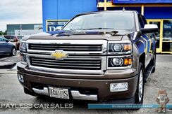 2015_Chevrolet_Silverado 1500_High Country / 4X4 / Crew Cab / 5.3L Ecotec V8 / Heated & Cooled Leather Seats / Heated Steering Wheel / Navigation / Sunroof / AutoStart / Driver Assist Pkg / Bose Speakers / Bed Liner / Back-Up Camera / Tow Pkg_ Anchorage AK