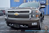 2015 Chevrolet Silverado 1500 High Country / 4X4 / Crew Cab / 5.3L V8 / Heated & Ventilated Leather Seats / Heated Steering Wheel / Sunroof / Navigation / Bose Speakers / Auto Start / Bluetooth / Back-Up Camera / Tow Pkg / 1-Owner