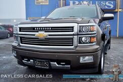 2015_Chevrolet_Silverado 1500_High Country / 4X4 / Crew Cab / 5.3L V8 / Power & Heated Leather Seats / Sunroof / Navigation / Bose Premium Speakers / Auto Start / Tow Pkg / Custom 24 Rims / 1-Owner_ Anchorage AK