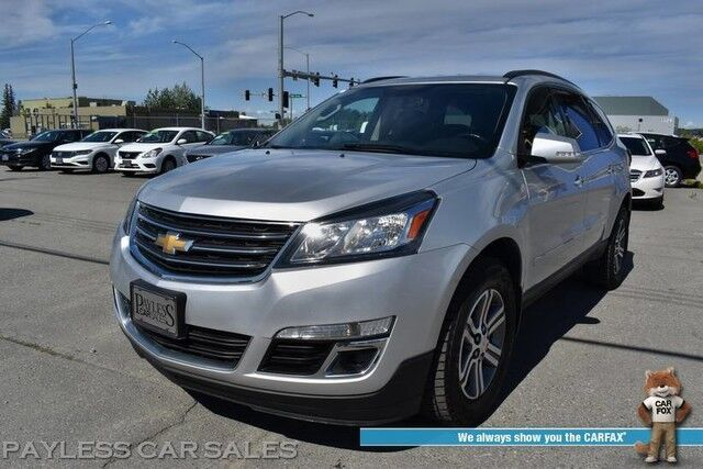 2015 Chevrolet Traverse LT / AWD / Auto Start / Heated Seats / Bose Speakers / Bluetooth / Back Up Camera / Rear Captain Chairs / 3rd Row / Seats 7 / Power Liftgate / 23 MPG Anchorage AK
