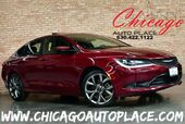 2015 Chrysler 200 S - 2.4L I4 MULTIAIR ENGINE FRONT WHEEL DRIVE NAVIGATION BACKUP CAMERA AMBASSADOR BLACK/BLUE LEATHER KEYLESS GO HEATED SEATS + STEERING WHEEL PANO ROOF ALPINE AUDIO