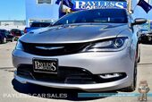 2015 Chrysler 200 S / AWD / Power & Heated Seats / Heated Steering Wheel / 8.4 Touchscreen Navigation / Panoramic Sunroof / Auto Start / Alpine Speakers / Uconnect Bluetooth / Back Up Camera / Low Miles / 29 MPG