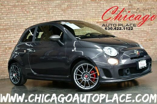 2015 FIAT 500c Abarth Convertible - 1.4L I4 MULTIAIR TURBO ENGINE FRONT WHEEL DRIVE BLACK/ RED CLOTH SPORT SEATS BLACK POWER SOFT TOP Bensenville IL