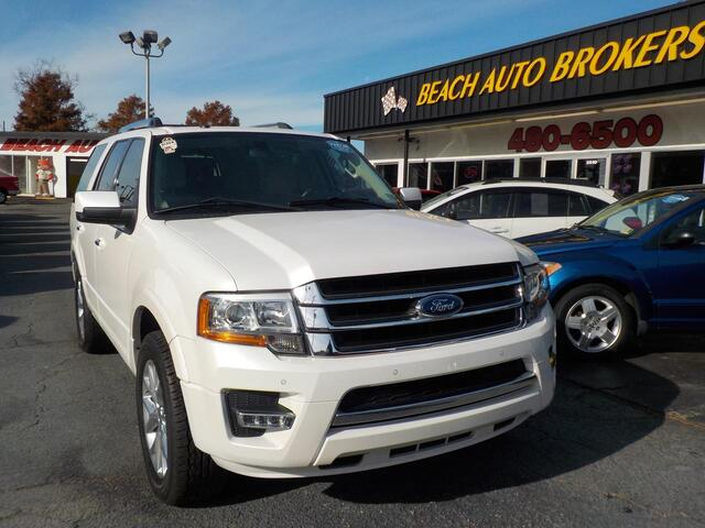 2015 FORD EXPEDITION LIMITED,BUYBACK GUARANTEE, WARRANTY, LEATHER, SUNROOF, 3RD ROW, NAV, FULLY LOADED, ONLY 1 OWNER! Norfolk VA
