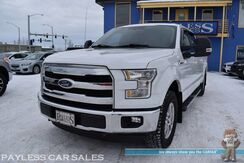 2015_Ford_F-150_Lariat / 4X4 / Crew Cab / 5.0L V8 / Heated & Cooled Leather Seats / Navigation / Panoramic Sunroof / Auto Start / Bluetooth / Back Up Camera / Blind Spot Alert / Tonneau Cover / Bed Liner / Keyless Entry & Start / Tow Pkg_ Anchorage AK