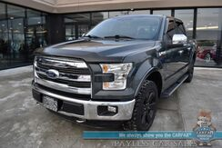 2015_Ford_F-150_Lariat / 4X4 / FX4 Off-RD Pkg / Crew Cab / Auto Start / Heated & Cooled Leather Seats / Sunroof / Navigation / Sony Speakers / Blind Spot Alert / Bluetooth / Back Up Camera / Bed Liner / Tow Pkg_ Anchorage AK