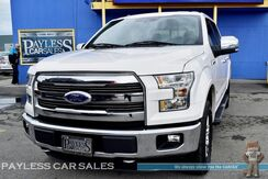 2015_Ford_F-150_Lariat / FX4 / 4X4 / Crew Cab / 3.5L Ecoboost / Heated & Ventilated Leather Seats / Navigation / Auto Start / Microsoft Sync Bluetooth / Back-Up Camera / Tow Pkg / 1-Owner_ Anchorage AK