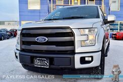 2015_Ford_F-150_Lariat / FX4 Off-Rd Pkg / 4X4 / Super Cab / 3.5L Ecoboost / Heated & Ventilated Leather Seats / Auto Start / Microsoft Sync Bluetooth / Back-Up Camera / Tonneau Cover / Tow Pkg / 1-Owner_ Anchorage AK