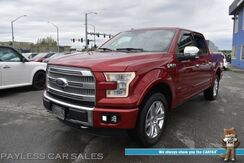 2015_Ford_F-150_Platinum / 4X4 / Ecoboost / Crew Cab / Auto Start / Heated & Cooled Leather Seats / Heated Steering Wheel / Navigation / Sony Speakers / Panoramic Sunroof / Adaptive Cruise / Lane Departure & Blind Spot Alert / Bed Liner / Tow Pkg_ Anchorage AK