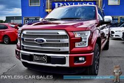 2015_Ford_F-150_Platinum / FX4 Off Road Pkg / Crew Cab / 4X4 / Front & Rear Heated Leather Seats / Heated Steering Wheel / Navigation / Panoramic Sunroof / Sony Speakers / Auto Start / Adaptive Cruise Control / Power Running Boards / Tow Pkg / 1-Owner_ Anchorage AK
