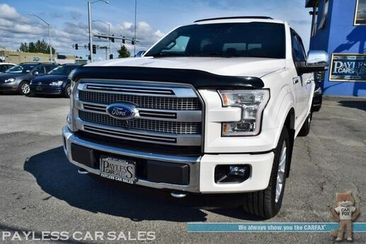2015 Ford F-150 Platinum Texas Edition / 4X4 / Crew Cab / FX4 Pkg / Heated & Cooled Leather Seats / Sunroof / Auto Start / Navigation / Sony Speakers / Tonneau Cover / Surround View Camera / Tow Pkg / 1-Owner Anchorage AK
