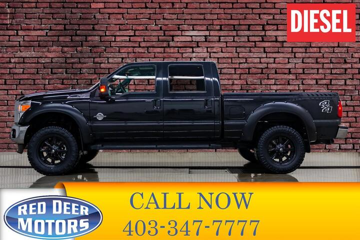 2015 Ford F-350 4x4 Crew Cab Lariat Diesel Leather Roof Nav Red Deer AB