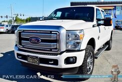 2015_Ford_F-350 Super Duty_Platinum / 4X4 / 6.7L Power Stroke Diesel / Crew Cab / Heated & Ventilated Leather Seats / Heated Steering Wheel / Navigation / Sony Speakers / Auto Start / Microsoft Sync Bluetooth / Back Up Camera / Bed Liner / Tow Pkg_ Anchorage AK