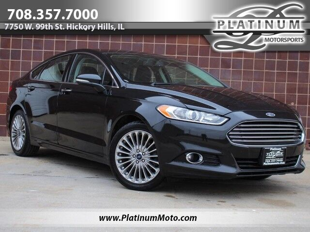 2015 Ford Fusion Titanium 1 Owner Navi Rear Camera Heated Leather Hickory Hills IL