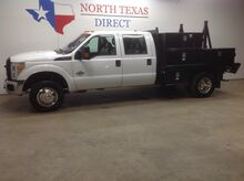 2015_Ford_Super Duty F-350 DRW_FREE DELIVERY XL 4x4 Diesel Crew Flatbed Bluetooth Keyless Chrome_ Mansfield TX