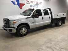 2015_Ford_Super Duty F-350 DRW_XL Diesel Crew Flatbed Bluetooth 5th Wheel 6 Passenger_ Mansfield TX