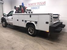 2015_Ford_Super Duty F-550 DRW_Mobile Oil Change Mechanic Truck Knapheide Service Body Air Compressor Oil_ Mansfield TX