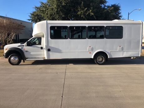 2015 Ford Super Duty F-550 DRW XL 4x4 20 Passenger Bus 6.7 Powerstroke Diesel Luggage Compartment Mansfield TX