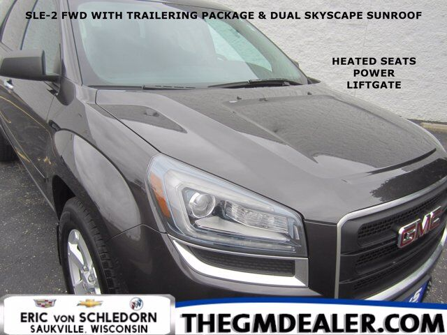 2015 GMC Acadia SLE-2 FWD TraileringPkg 7-Passenger w/2ndRowBuckets DualRoof HtdCloth IntelliLink RearCamera Milwaukee WI
