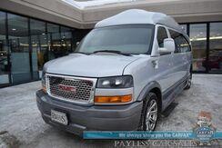 2015_GMC_Savana Van_Explorer Limited SE Camper Van / 6.0L V8 / Heated Leather Seats / Cummins Generator / Power Sofa / Rear Entertainment / Navigation / Back Up Camera / Rear Captain Chairs / Seats 7 / Tow Pkg / Only 38k Miles / 1-Owner_ Anchorage AK