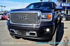 2015_GMC_Sierra 1500_Denali / 4X4 / Crew Cab / Driver Alert Pkg / Heated & Ventilated Leather Seats / Heated Steering Wheel / Sunroof / Navigation / Bose Speakers / Rear Entertainment / Bluetooth / Back-Up Camera / Lifted / MAYHEM Wheels / 35 Michelin Tires / Auto Start_ Anchorage AK