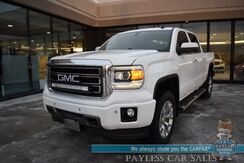 2015_GMC_Sierra 1500_SLT / 4X4 / 5.3L V8 / Crew Cab / Auto Start / Heated & Cooled Leather Seats / Heated Steering Wheel / Bose Speakers / Sunroof / Navigation / Bluetooth / Back Up Camera / Bed Liner / Tow Pkg / 22 MPG_ Anchorage AK