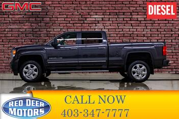 2015_GMC_Sierra 2500HD_4x4 Crew Cab Denali Diesel Leather Roof Nav_ Red Deer AB
