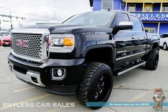 2015_GMC_Sierra 2500HD_Denali / 4X4 / Lifted / Crew Cab / 6.6L Duramax Turbo Diesel / Heated & Ventilated Leather Seats / Heated Steering Wheel / Sunroof / Navigation / Bose Speakers / Driver Alert Pkg / Auto Start / Black Rhino 20'' Wheels / 33'' Toyo Tires / Tow Pkg_ Anchorage AK