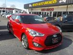 2015 HYUNDAI VELOSTER TURBO COUPE, WARRANTY, LEATHER, BACKUP CAM, HEATED SEATS, SIRIUS RADIO, BLUETOOTH, AUX PORT, ONSTAR!