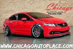 2015_Honda_Civic Sedan_Si - AIR LIFT AIRBAG SUSPENSION 6-SPEED MANUAL BAGGED WIDE BODY AERO KIT KEYLESS GO SUNROOF BLACK/RED CLOTH SI SPORT SEATS_ Bensenville IL