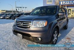 2015_Honda_Pilot_Touring / 4X4 / Heated Leather Seats / Sunroof / Navigation / Rear Entertainment / 3rd Row / Seats 8 / Bluetooth / Back Up Camera / Tow Pkg_ Anchorage AK