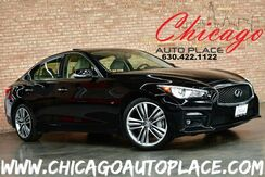 2015_INFINITI_Q50_Sport AWD - 1 OWNER 3.7L V6 ENGINE PADDLE SHIFTERS NAVIGATION BACKUP CAMERA SUNROOF BLACK LEATHER HEATED SEATS KEYLESS GO ALL WHEEL DRIVE_ Bensenville IL