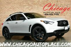 2015_INFINITI_QX70_S - AWD 3.7L DOHC V6 ENGINE 1 OWNER NAVIGATION TOP VIEW CAMERAS BLACK LEATHER W/ VIOLET STITCHING KEYLESS GO HEATED/COOLED SEATS SUNROOF XENONS_ Bensenville IL