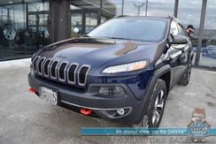 2015_Jeep_Cherokee_Trailhawk / 4X4 / Auto Start / Heated Leather Seats / Heated Steering Wheel / Panoramic Sunroof / Bluetooth / Back Up Camera / Cruise Control / Tow Pkg / 25 MPG / 1-Owner_ Anchorage AK