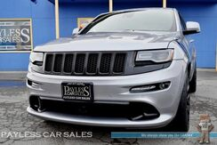 2015_Jeep_Grand Cherokee_SRT / 4X4 / 6.4L HEMI V8 / Advanced Technology Pkg / Heated Front & Rear Leather Seats / Navigation / Harman Kardon Speakers / Rear Entertainment / Panoramic Sunroof / Auto Start / Extra Set of Rims & Tires / Tow Pkg / 1-Owner_ Anchorage AK