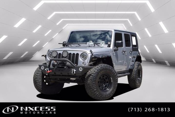 2015 Jeep Wrangler Unlimited Sport 4x4 ,Lifted 20In Wheels 37 In Tires Light Bars, Winch, Fenders, Racks Over 10k Upgrades! Houston TX