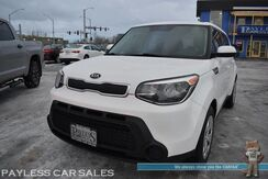 2015_Kia_Soul_Base Wagon / 6-Spd Manual / Auto Start / Power Mirrors Windows & Locks / Bluetooth / Air Conditioning / USB & AUX Jacks / Hankook Studded Tires / 30 MPG_ Anchorage AK