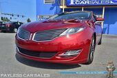 2015 Lincoln MKZ AWD / Tech Pkg / Heated & Cooled Leather Seats / Heated Steering Wheel / Panoramic Sunroof / Navigation / Adaptive Cruise Control / THX Speakers / Bluetooth / Back Up Camera / Auto Start / 1-Owner
