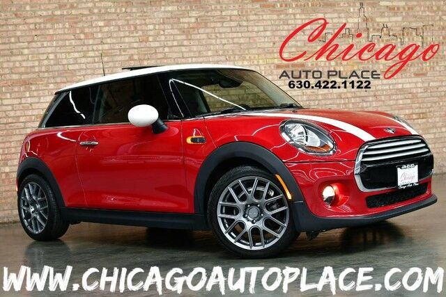 2015 MINI Cooper Hardtop 1.5L TWIN-POWER TURBO ENGINE BLACK LEATHER HEATED SEATS PANO ROOF HARMAN/KARDON AUDIO KEYLESS GO BLUETOOTH PREMIUM WHEELS Bensenville IL