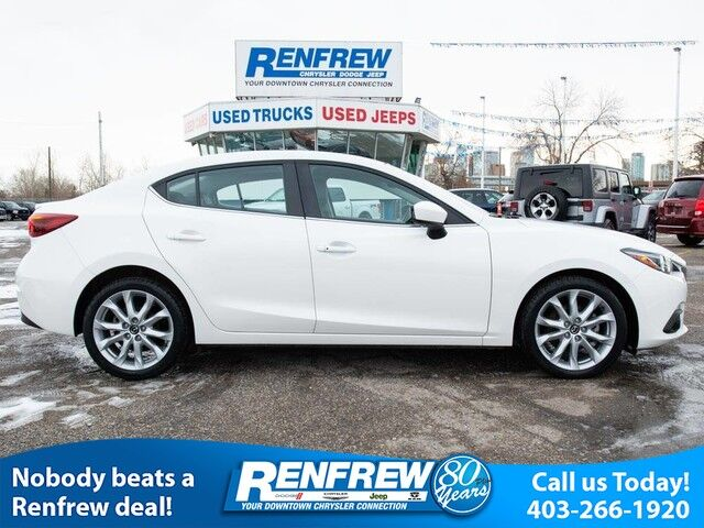 2015 Mazda Mazda3 GT, Heads Up Display, Sunroof, Heated Leather, Navigation, Bose Sound System, Bluetooth Calgary AB