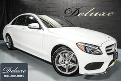 Mercedes-Benz C 300 4MATIC Sport, Premium Package, Navigation System, Rear-View Camera, Heated Leather Seats, Panorama Sunroof, 18-Inch AMG Alloy Wheels, 2015