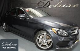 Mercedes-Benz C 300 4MATIC Sport Sedan, AMG Sportline, Navigation System, Rear-View Camera, Burmester Surround Sound, Red Sport Leather Interior, Heated Leather Seats, Panorama Sunroof, 18-Inch AMG Alloy Wheels, 2015