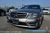 2015 Mercedes-Benz C 350 Coupe / 4Matic AWD / Automatic / Power & Heated Leather Seats / Navigation / Panoramic Sunroof / Harman Kardon Speakers / Blind Spot Assist / Bluetooth / 27 MPG / Low Miles